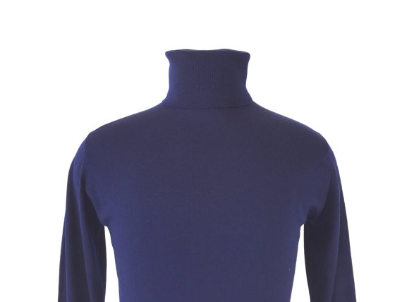 this 1960's turtleneck was worn by poets everywhere. This one was made in England of the finest wool.