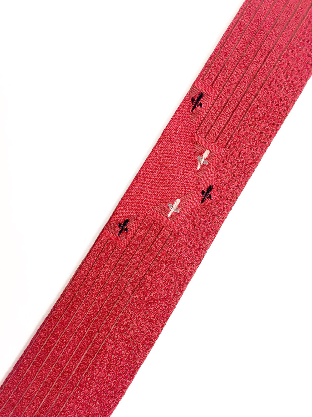 1960'sSkinny Necktie with embroidered Fleur-de-Lis