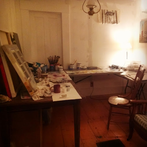 An example of my studio space. I love Vermont.