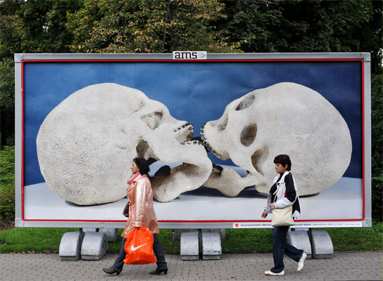 Stuck  Billboard in Torun, Poland 2010     By EL artist Deniz Ozuygur