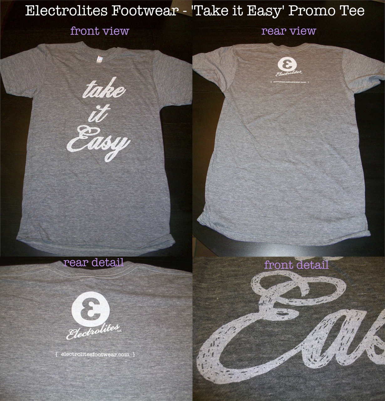 Here's some better quality photos of the limited promo tee. Get yours ASAP!