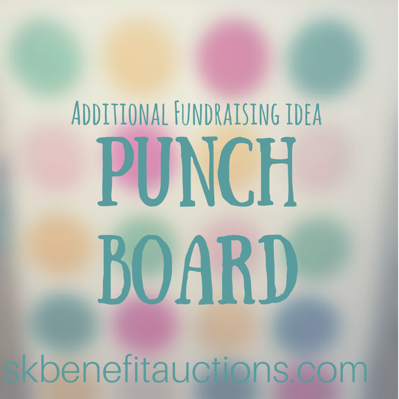 Fundraising Punch Board | Sarah Knox Benefit Auctions