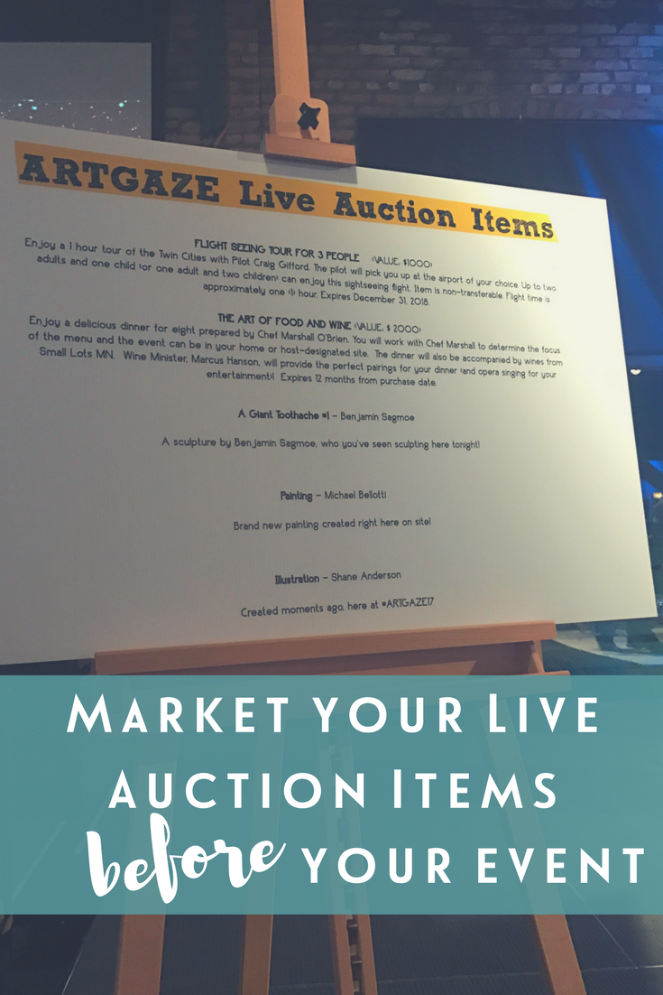Hosting a fundraising auction? Market your live auction items before your event with these tips | Sarah Knox: Fun female auctioneer for fundraising, benefit and charity events