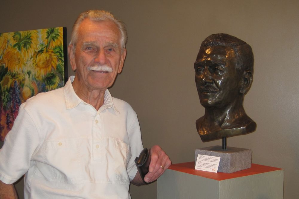 Jim Ashworth - Portrait in Bronze by Pat Luders