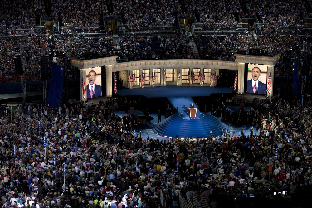 Senator Barack Obama at the Democratic National Convention in Denver.