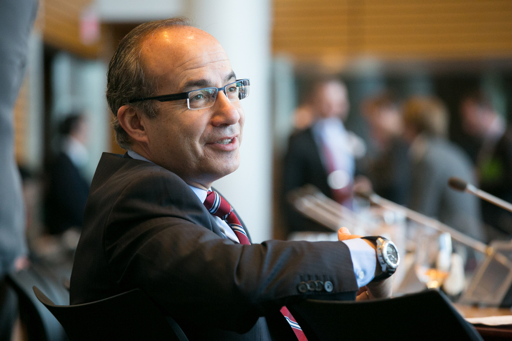Fmr. President of Mexico, Felipe Calderón at The Global Commission on the Economy and Climate Meeting at the World Bank