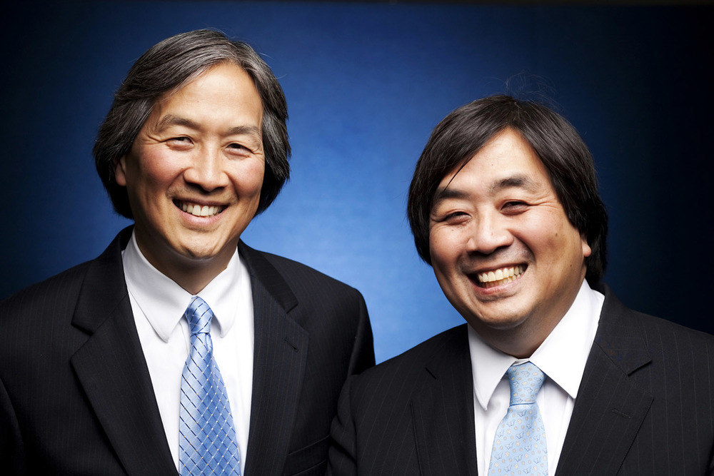 Howard Koh, Assistant Secretary for Health in the Department of Health and Human Services, left and brother Harold Koh, Legal Adviser to the United States Department of State.