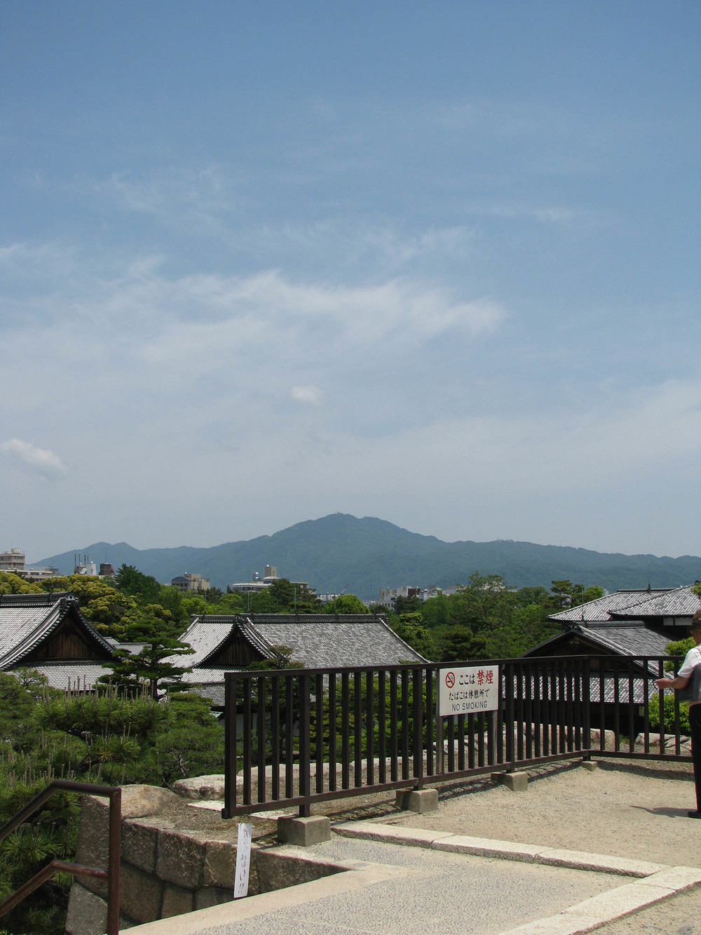 Mt. Hiei from Nijo Castle