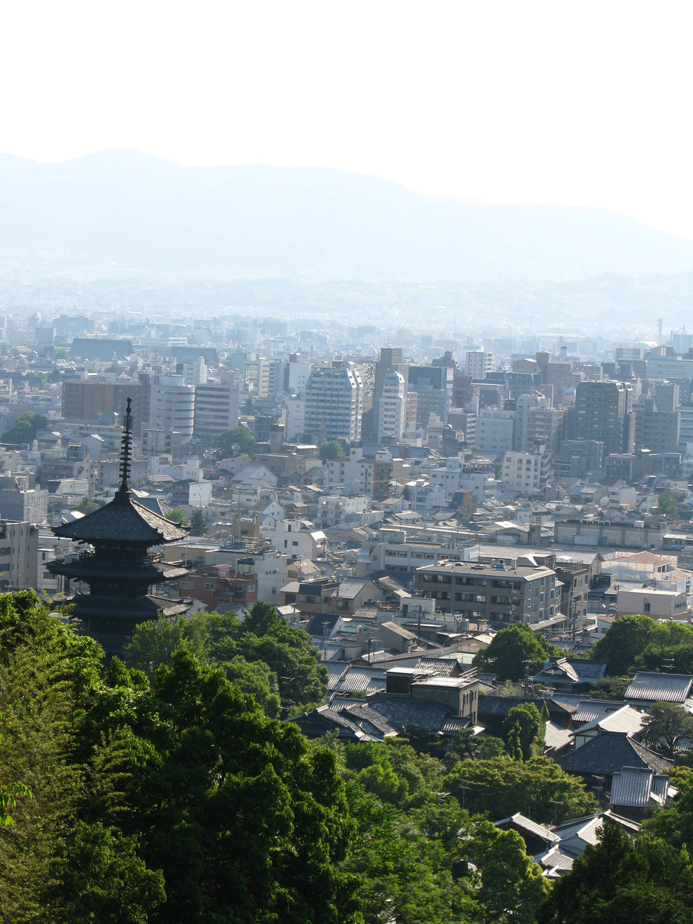 Kyoto from Mount Higashi