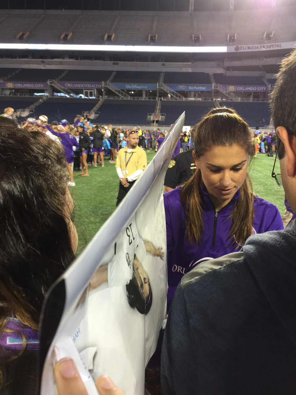 Orlando Pride Star Alex Morgan gives back to fans.