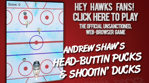 Andrew Shaw's Head-Buttin' Pucks & Shootin' Ducks Game