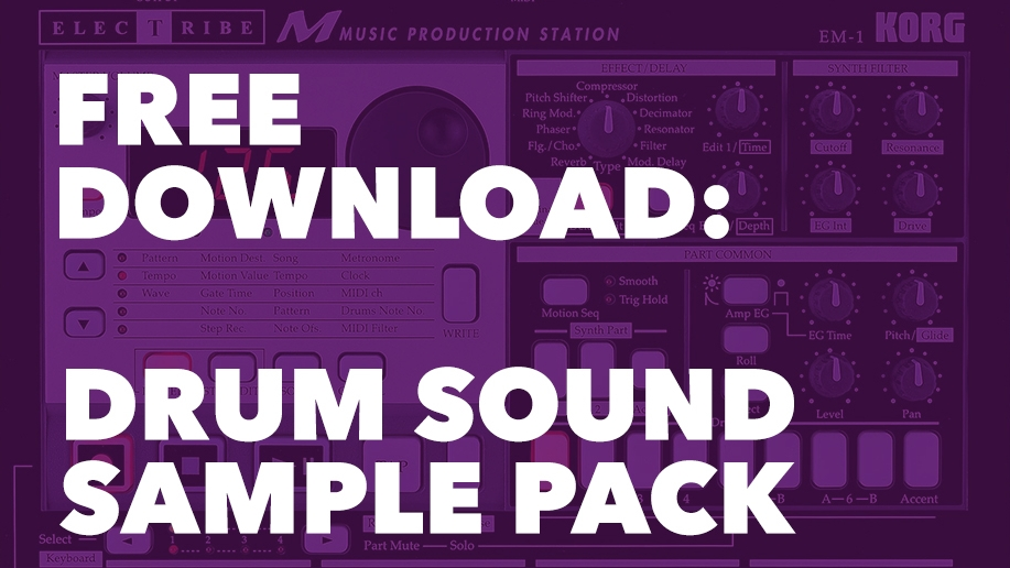 Drum Sound Sample Pack - Korg Electribe EM-1