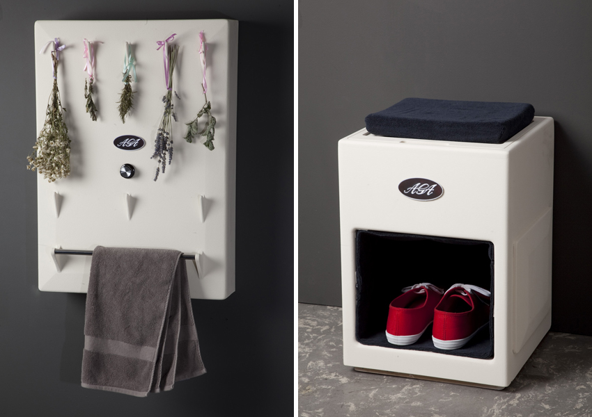 Kitchen dryer by Judith Genster and Shoe Tidy by Chih Kai Huang