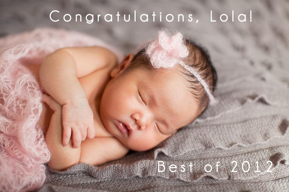 Albuquerque newborn baby portrait photographer baby girl with pink mohair flower headband