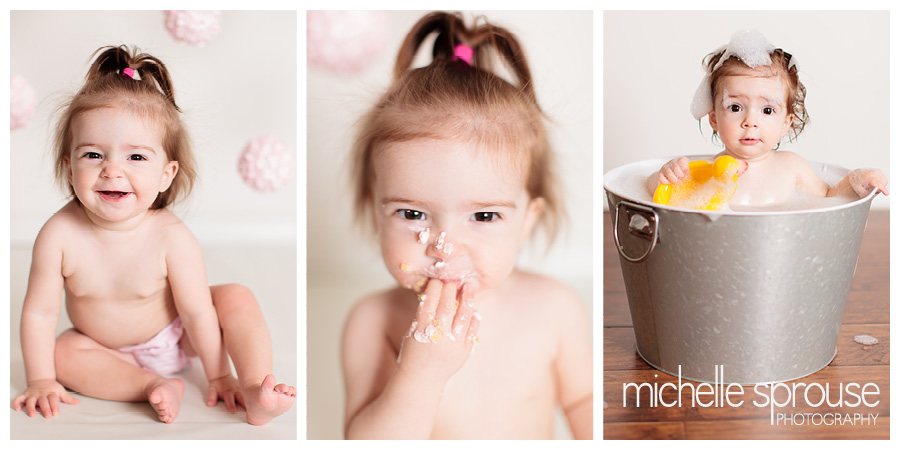 Albuquerque baby photographer first birthday cake smash session details