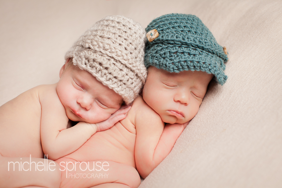 Albuquerque newborn baby boy twins photographer
