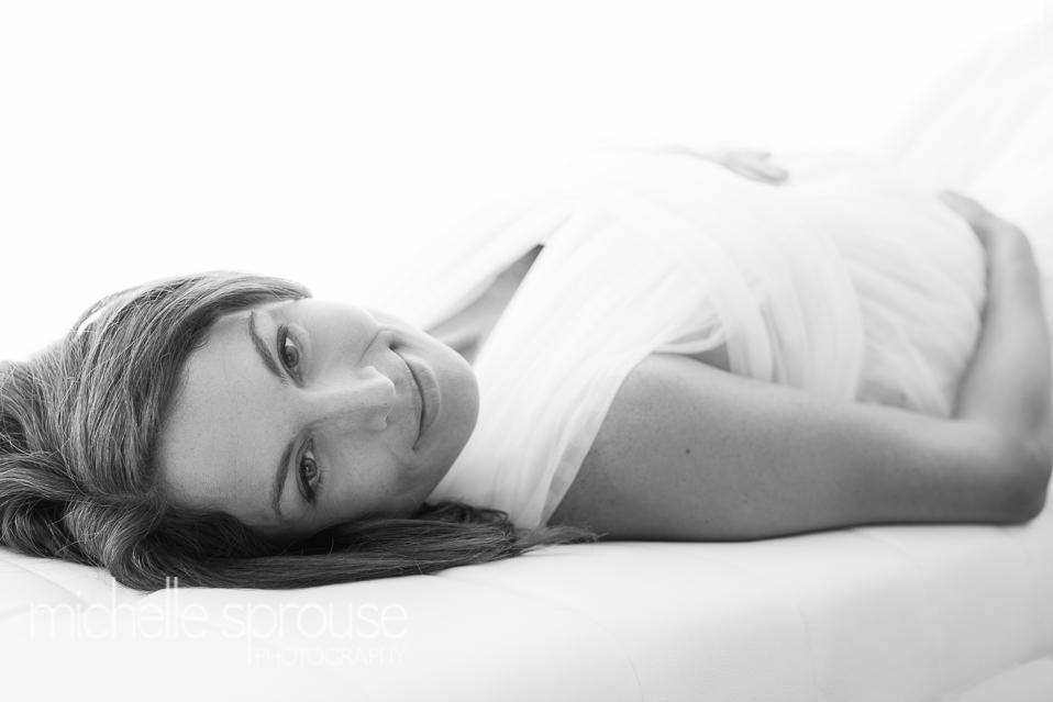 black and white Albuquerque studio maternity photographer