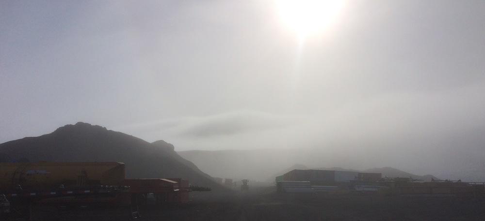 Fog on trash pick-up day #2.