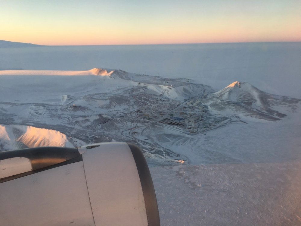Flying over McMurdo, August 2018