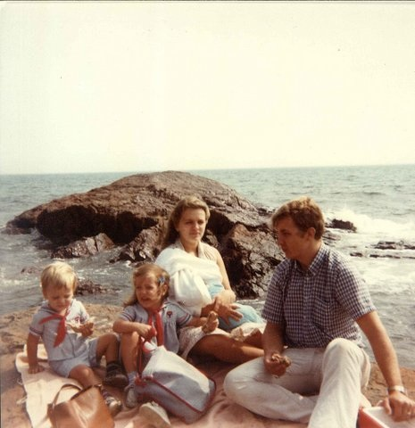 Me and My Dad. Mom, Phil, Dan. Gloucester, MA. 1983