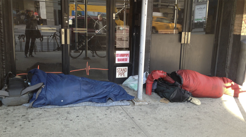 camping out in front of Crunch, Soho