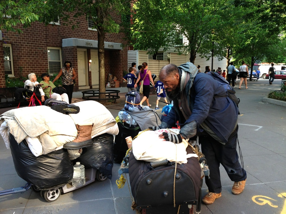 Portage of worldly belongings, Tribeca