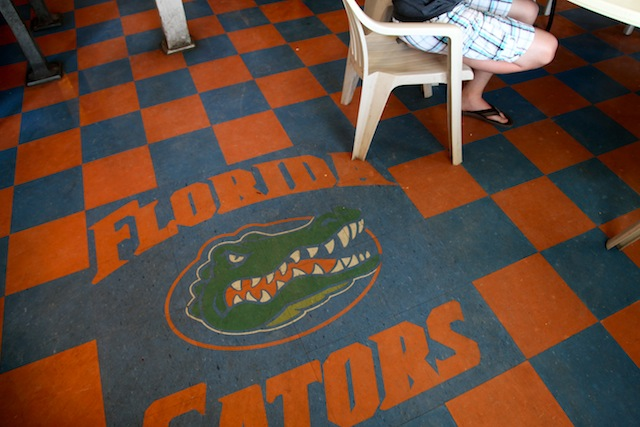 Owner Jimmy McNeill is one of the biggest Florida Gators fans you'll ever meet.