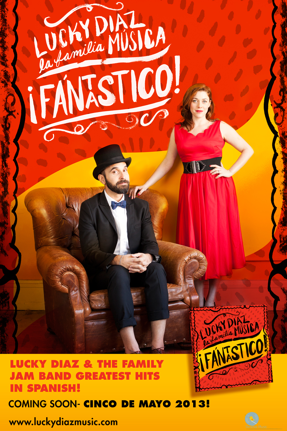 ¡Fantastico!- the new spanish album by Lucky Diaz and the Family Jam Band.Out May 5, 2013