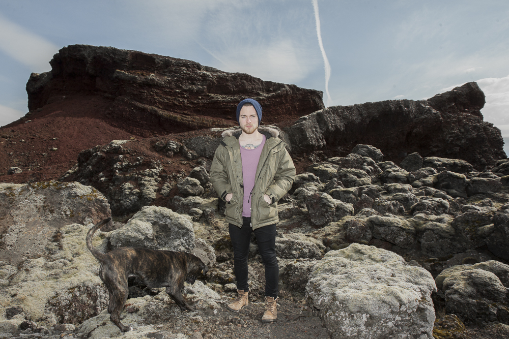 Ásgeir, photographed in Iceland for Nylon Guys magazine.