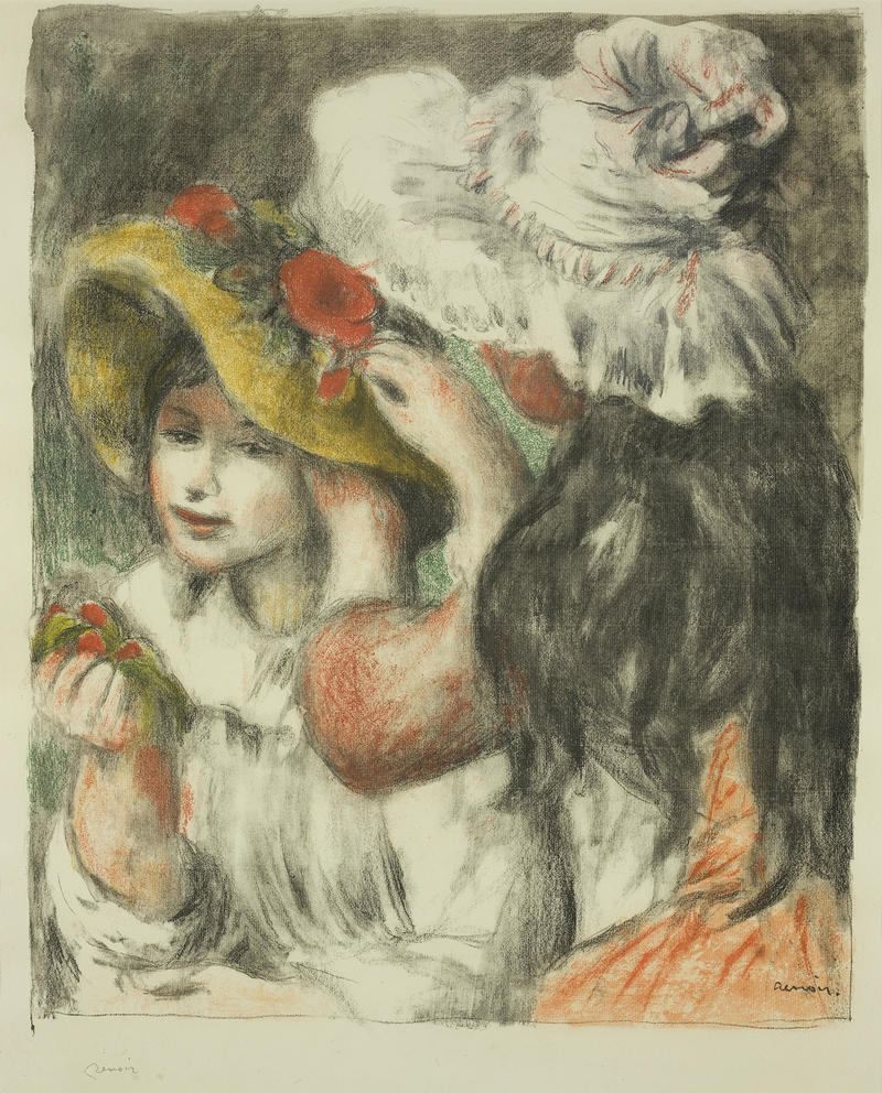 """Pinning the Hat"" Pierre-August Renoir, 1898 Steiglitz/Fisk/Crystal Bridges Collection"