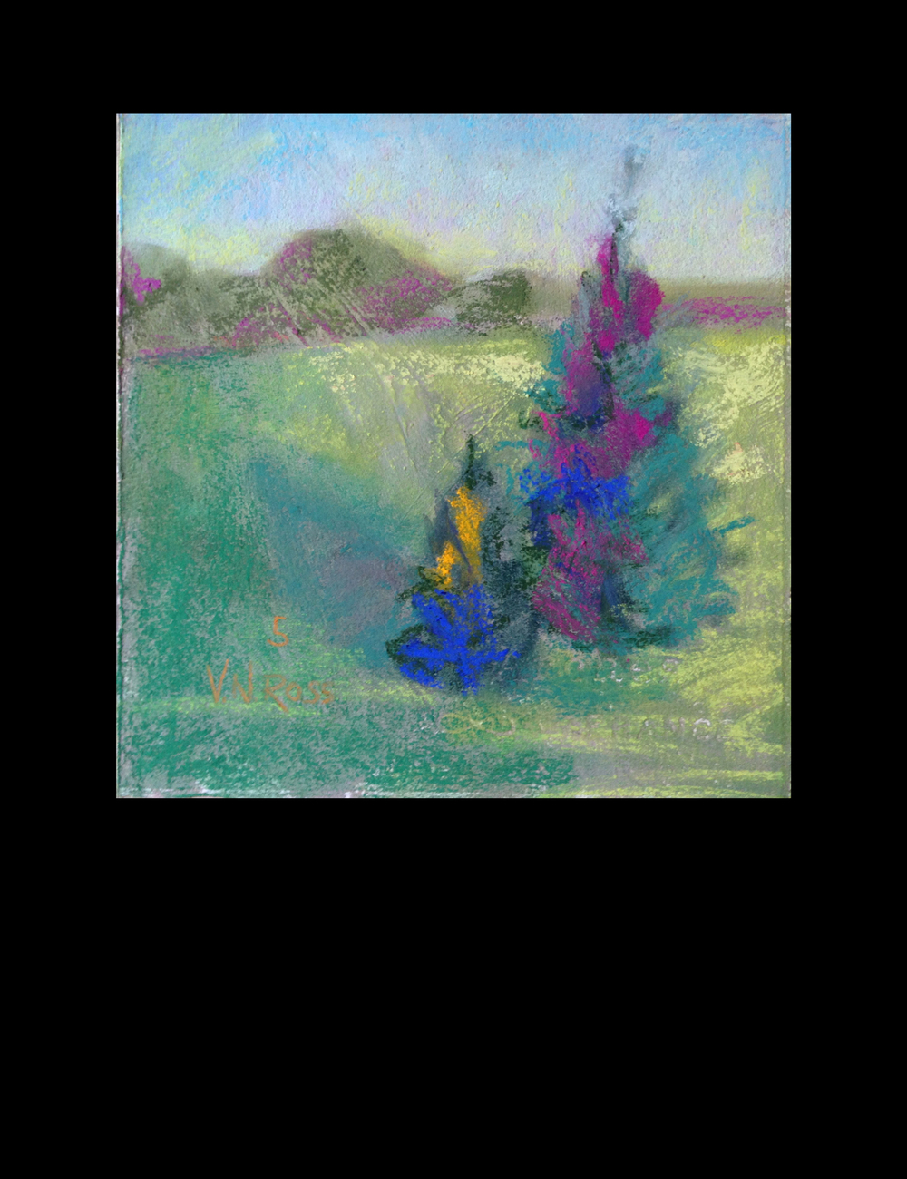 "#5 Over and Over Again 7.5"" x 7.5"" Pastel © V.N.Ross"