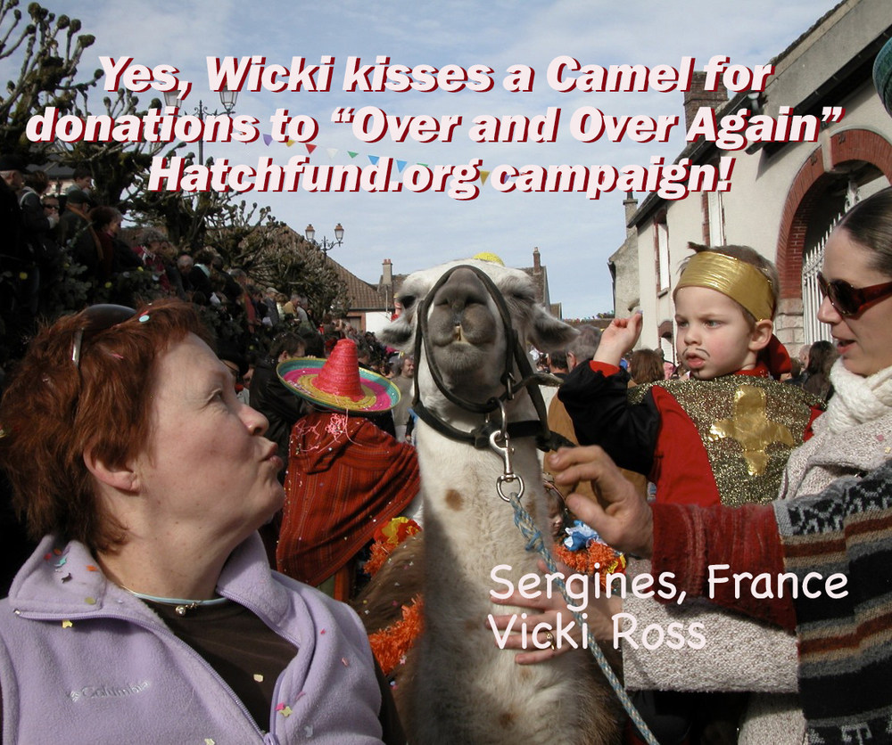 A personal favorite...created for the campaign. Ummm, Wicki? That is a yama (sic), not a camel.