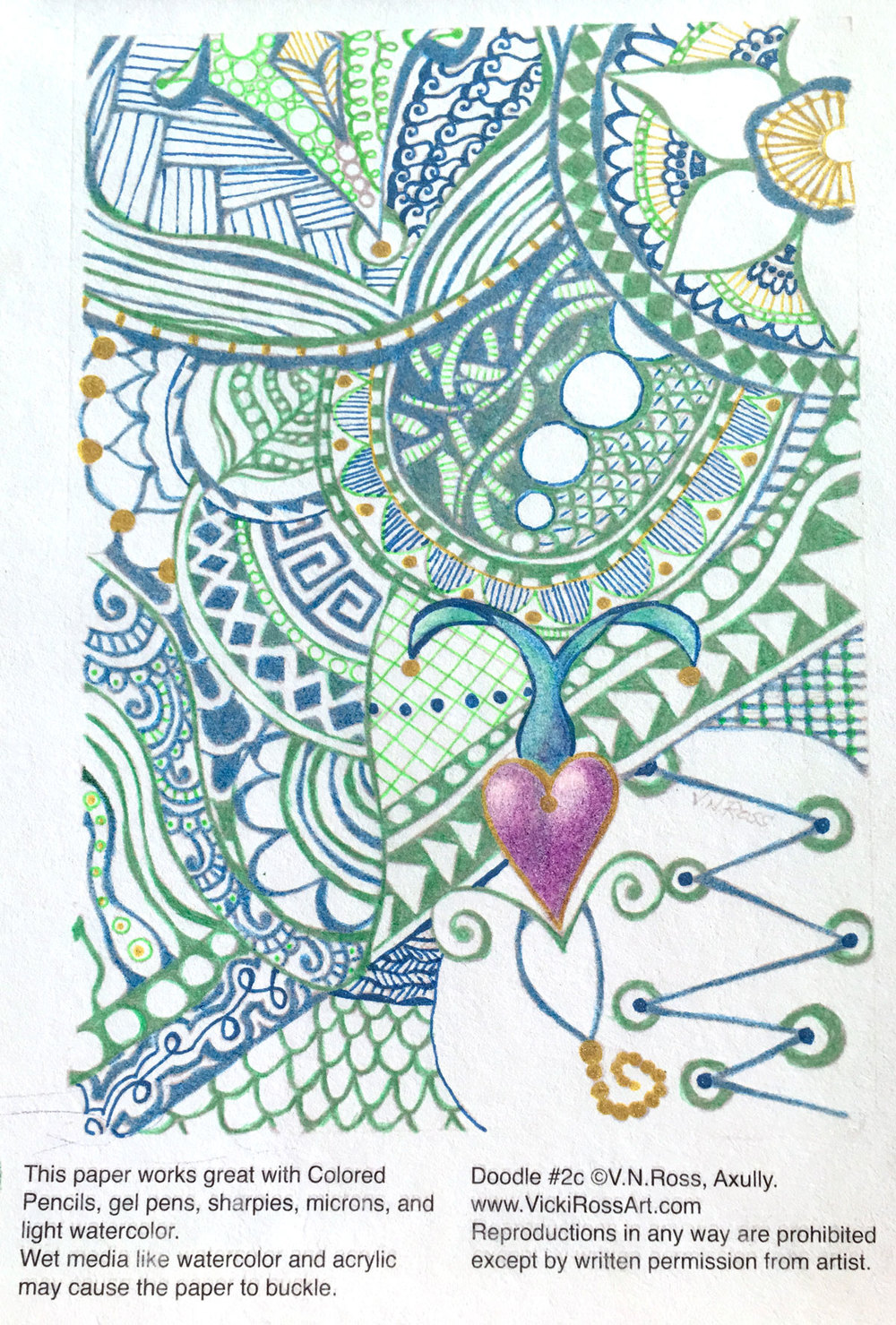 My $5 Patrons on the Patreon platform get a digital file with three versions of one of my original Doodle Coloring Pages CLICK HERE. You can purchase direct for $7.50 CLICK HERE.Or, if you are in Rogers, AR, The Rusted Rooster Antique Mall on Walnut Street has two prints for $8.50.