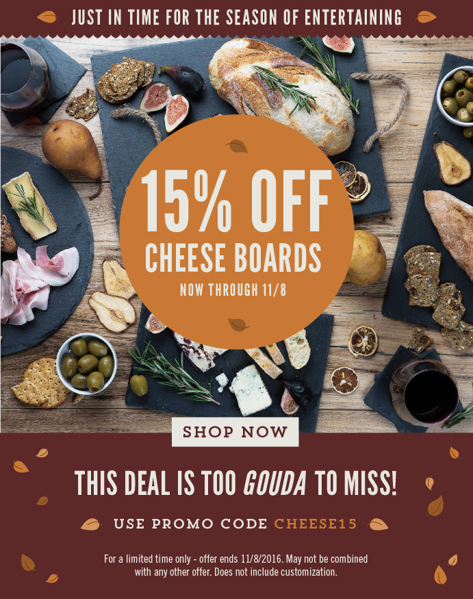 Cheese Board Promotion