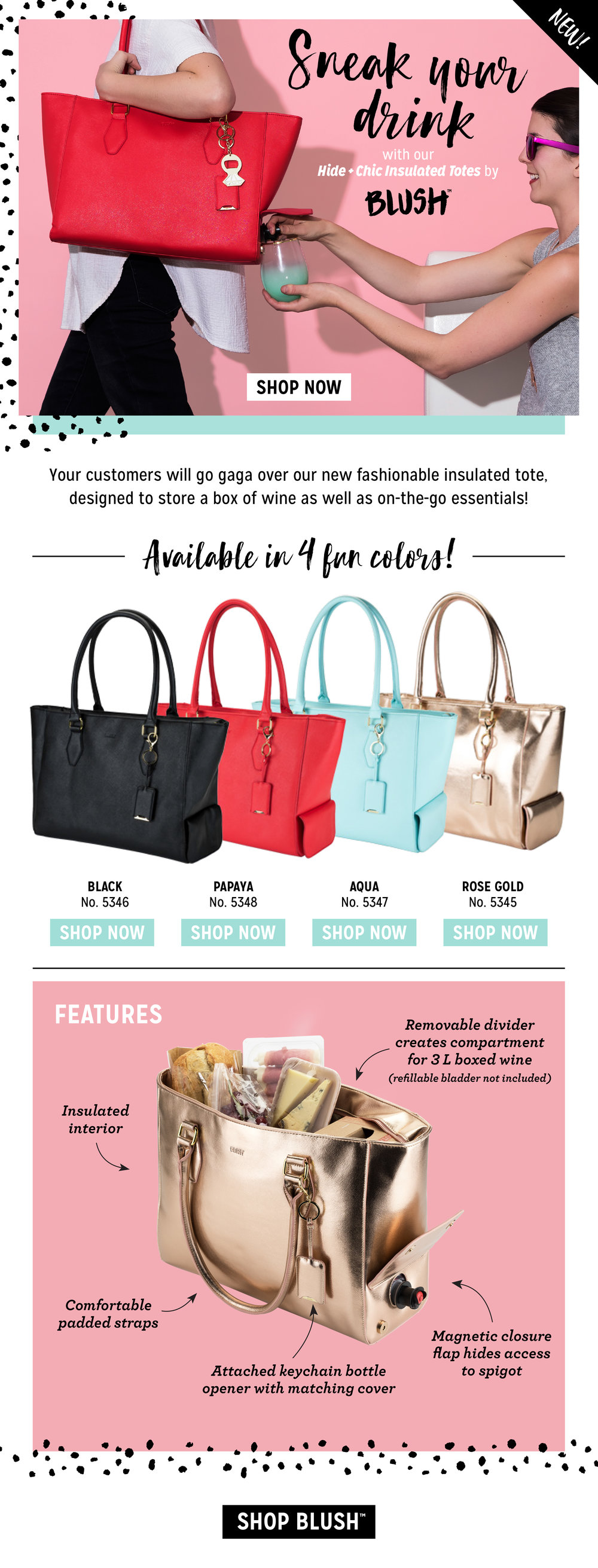 Insulated Tote Feature Email