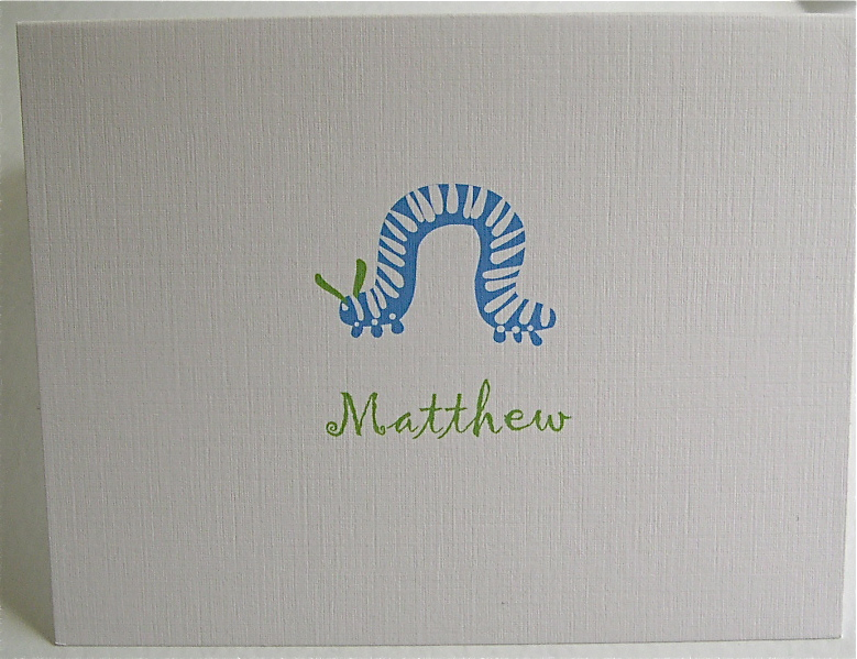 blue and green inchworm stationery.JPG