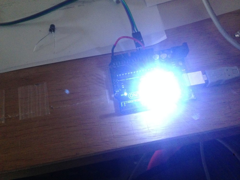 Initial testing with a single infrared LED on Arduino