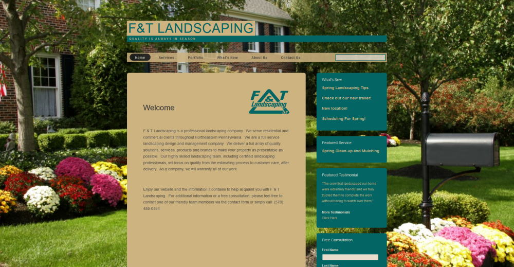 F and T Landscaping Website