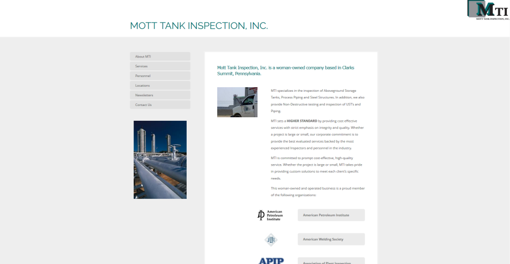 Mott Tank Inspection Website