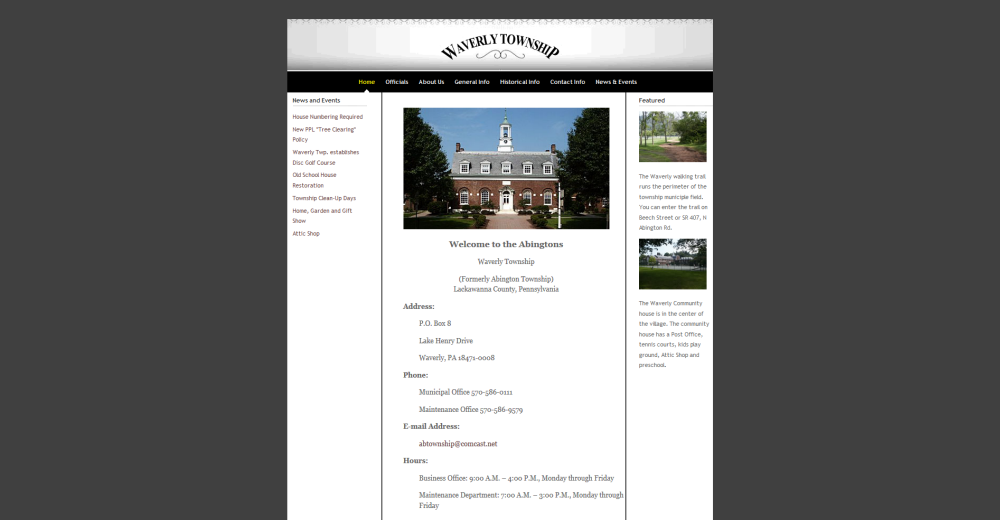 Waverly Township Website