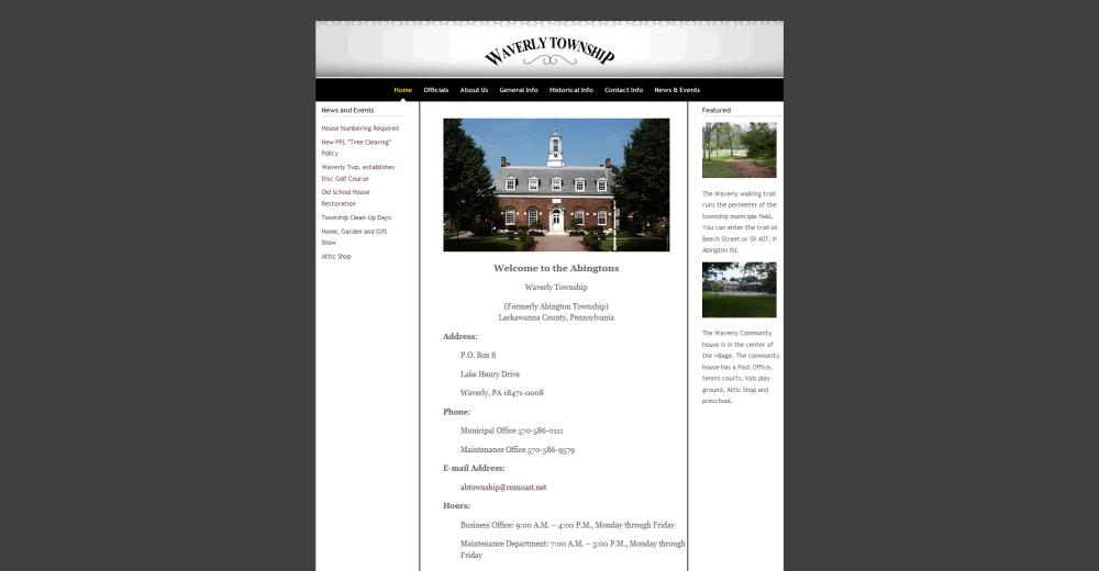 Waverly Township Website