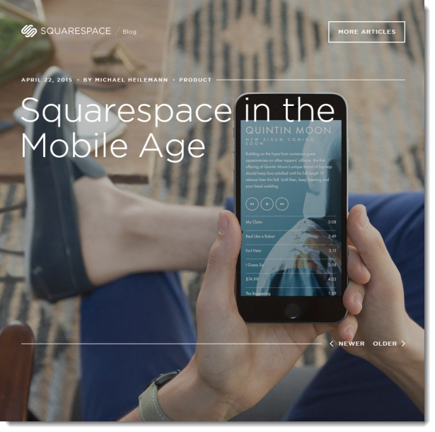 100% Mobile Friendliness Squarespace Websites