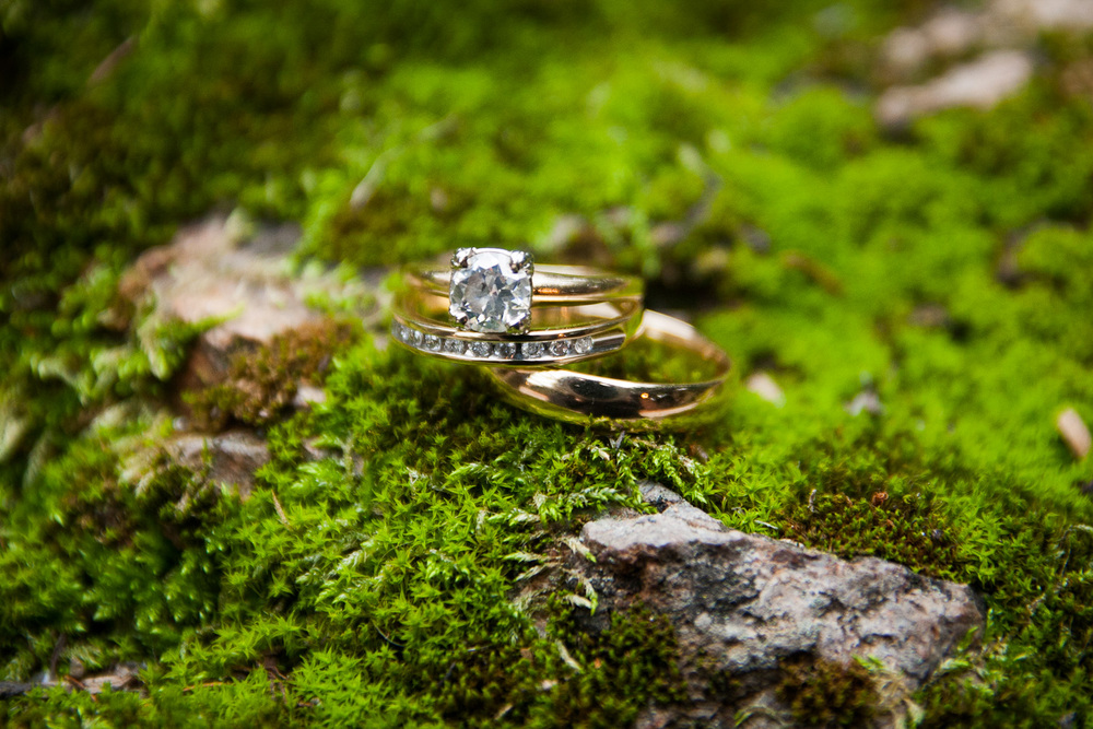 rings and moss