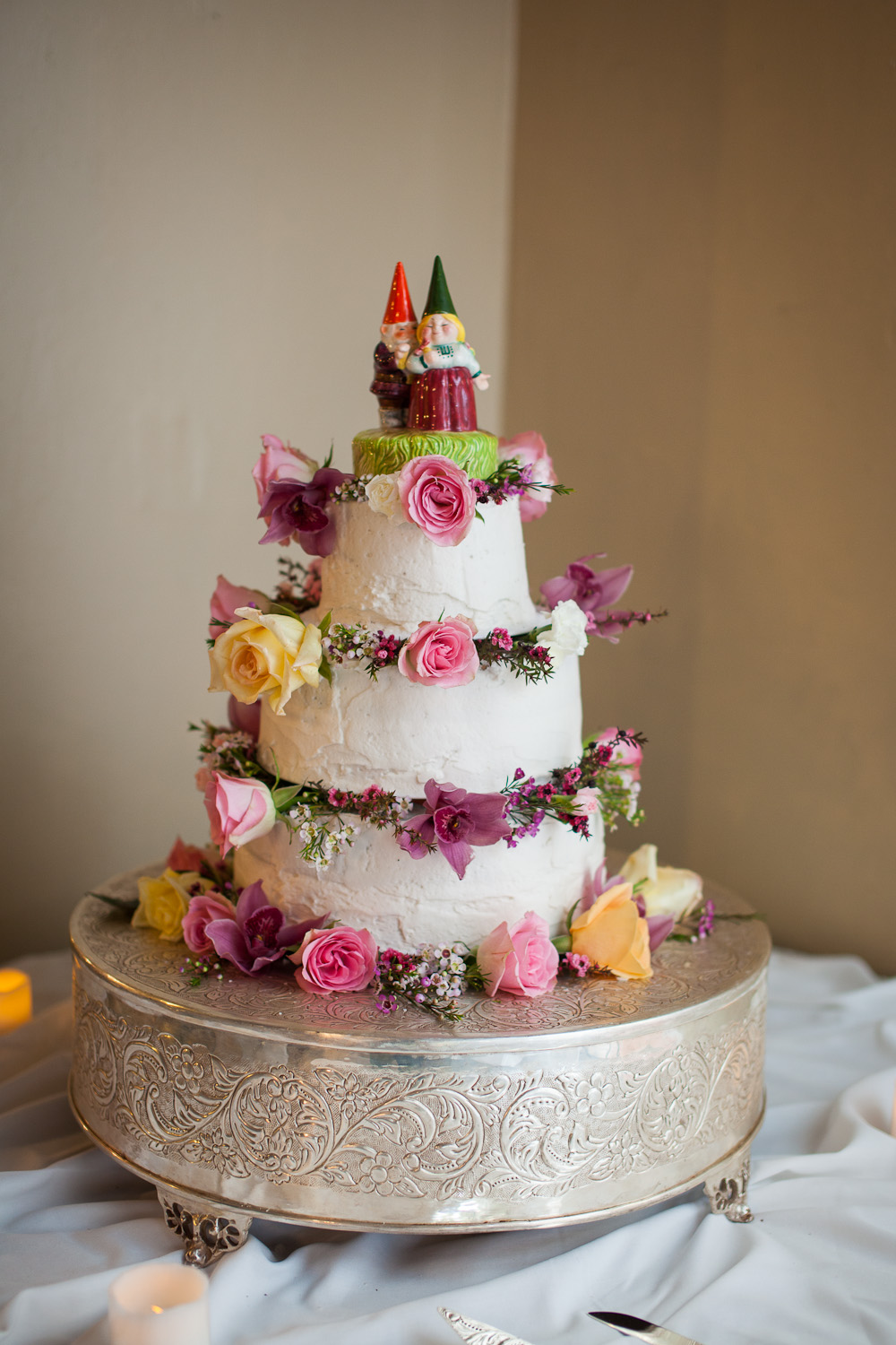 gnome wedding cake
