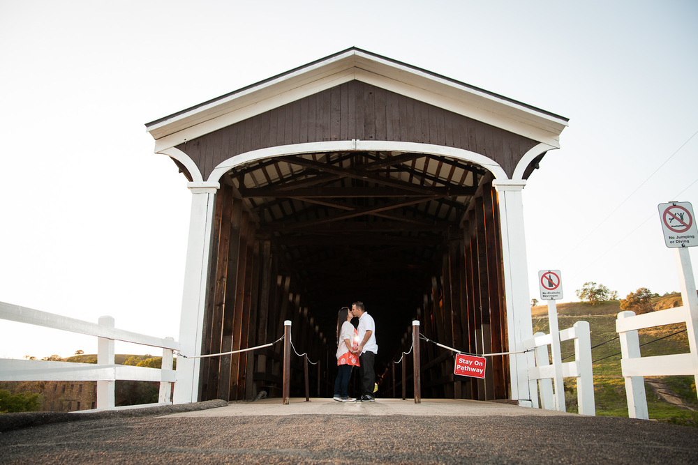 covered bridge engagement