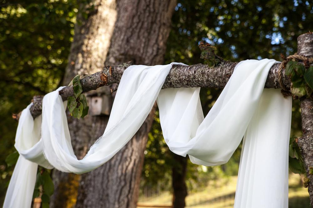 homemade wedding arbor