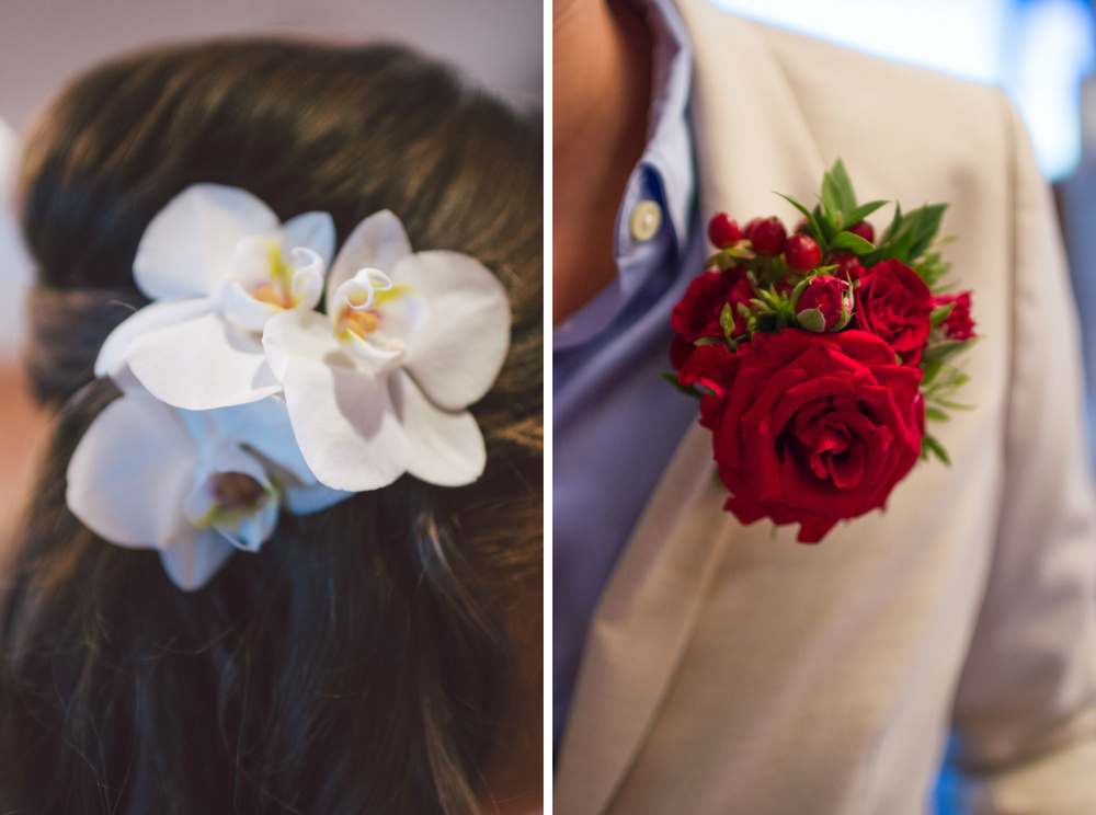 bridal hair orchids