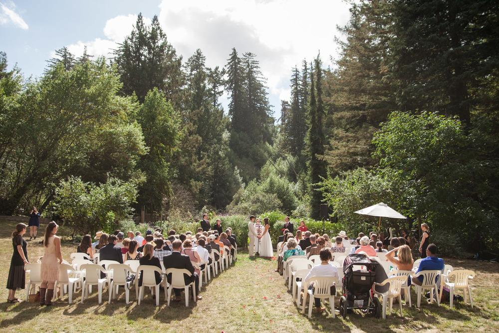 lesbian forest wedding