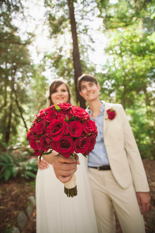 brides with bouquet