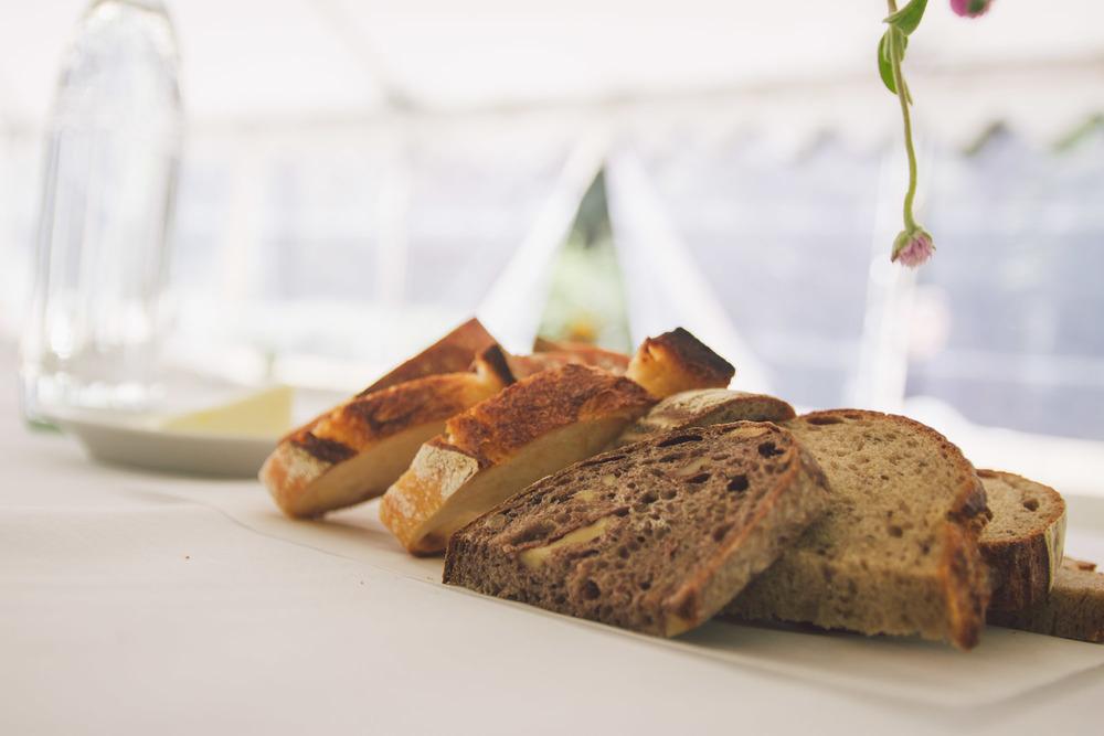 rustic bread wedding reception